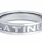 Мужские кольца из платины
